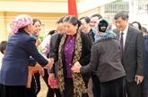 Assemblée nationale : la vice-présidente Tong Thi Phong en tournée à Son La