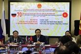 Point presse en l'honneur du 70e anniversaire des relations diplomatiques