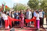 Inauguration d'un nouveau monument de l'amitié Vietnam - Cambodge