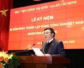 L'Académie de politique Hô Chi Minh fête le 90e anniversaire du PCV