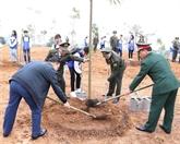 Lancement de la Fête de plantation d'arbres aux temples des rois Hùng
