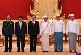 Le président birman apprécie hautement la coopération avec le Vietnam