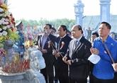 Le PM à la cérémonie d'inauguration du temple des morts pour la Patrie