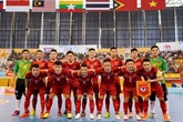 Léquipe de futsal du Vietnam sentraîne en Espagne