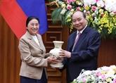 Le chef du gouvernement vietnamien reçoit la présidente de l'Assemblée nationale laotienne