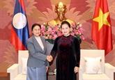 Entrevue entre les présidentes de l'AN du Vietnam et du Laos