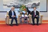 Renforcement de la coopération entre les localités vietnamiennes et le Jiangsu