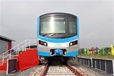 La première rame de la ligne de métro Bên Thành - Suôi Tiên arrive à Hô Chi Minh-Ville