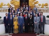 Le vice-PM Truong Hoà Binh honore les hommes d'affaires illustres
