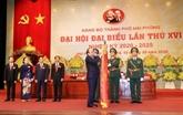 Ouverture du XVIe Congrès de l'organisation du Parti de Hai Phong
