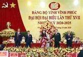 Vinh Phuc s'ouvre le XVIIe Congrès de l'organisation du Parti