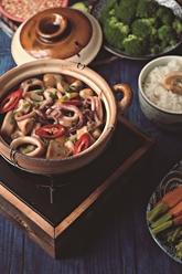Wok de calamars aux légumes