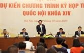 L'Assemblée nationale ouvrira mardi sa 10e session à Hanoï