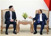 Le PM Nguyên Xuân Phuc reçoit le vice-président de Samsung