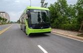 Le premier modèle de bus électrique testé au Vietnam