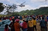 Cinq vols transportant des secours vers le Centre