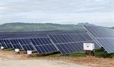 Une nouvelle centrale solaire inaugurée à Ninh Thuân