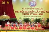Cao Bang : 350 délégués au XIXe Congrès de l'organisation du Parti