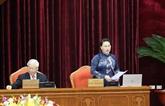 La première journée de travail du 13e plénum du Comité central du Parti