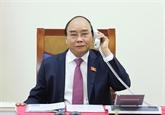 Conversation téléphonique entre Nguyên Xuân Phuc et Thongloun Sisoulith