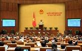 L'Assemblée nationale travaille sur plusieurs projets de loi