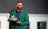 Golf : maître du jeu et de ses émotions, Johnson triomphe au Masters d'Augusta