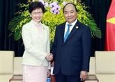Économie et commerce, point brillant de la coopération avec Hong Kong (Chine)