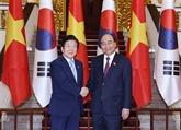 Le PM vietnamien reçoit le président de l'AN sud-coréen