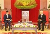 Le chef du Parti reçoit le président de l'Assemblée nationale sud-coréenne