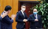 Le Premier ministre vietnamien reçoit un ancien vice-Premier ministre allemand
