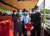 Inhumation des restes de 262 soldats tombés au Cambodge