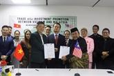 Les entreprises vietnamiennes et malaisiennes promeuvent leur coopération