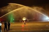 L'avion de Vietravel Airlines a atterri pour la première fois à l'aéroport de Phu Bài