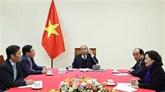 Conversation téléphonique entre Nguyên Xuân Phuc et Donald Trump