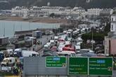 Près de Douvres, Noël dans le camion pour les chauffeurs bloqués