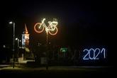 En Slovénie, des vélos tout en lumières pour célébrer une folle année cycliste