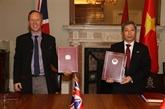 L'UKVFTA contribuera à la promotion du partenariat stratégique Vietnam - Royaume-Uni