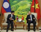 Le PM laotien au Vietnam pour la 43e session du Comité intergouvernemental