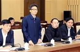Le vice-PM Vu Duc Dam travaille avec Vinh Phuc sur la lutte contre le nCoV