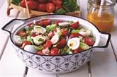 Salade à la vinaigrette et aux fruits de la passion