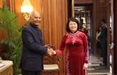La vice-présidente vietnamienne rencontre le président indien