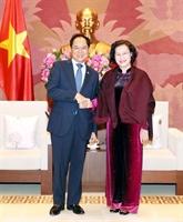 La présidente de l'AN vietnamienne reçoit l'ambassadeur sud-coréen à Hanoï