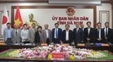 Des Japonais sondent l'environnement de l'investissement à Hà Nam