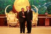Le secrétaire général du PPRL et président laotien reçoit le ministre chinois des AE