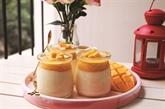 Pudding au lait et à la purée de mangue
