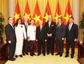 Le secrétaire général du PCV et président vietnamien Nguyên Phu Trong reçoit de nouveaux ambassadeurs étrangers