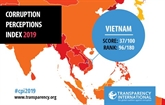 Corruption Perceptions Index 2019 : le Vietnam gagne 21 places