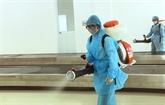 Cinq tonnes de désinfectant fournies pour aider à combattre le coronavirus