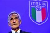 Le patron de la Fédération italienne de football espère une reprise début mai