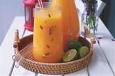 Jus d'orange et de citronnelle